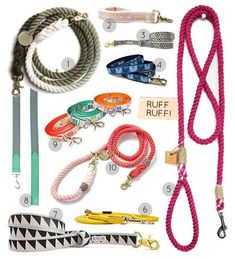 Design*Sponge - 20 Favorite Leashes. Pinned here to follow someone's comment and attempt to DIY the ombre one.
