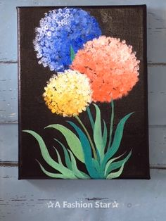 6 Super Easy Painting Art For Home Decor – Painting For Beginner Are you still spending lot of money to buy those artworks for home decor? In fact,you can totally make easy painting art by yourself. Diy Canvas Art, Canvas Artwork, Flower Canvas Paintings, Flowers On Canvas, Paper Flowers Craft, Canvas Crafts, Flower Crafts, Acrylic Art, Acrylic Painting For Kids