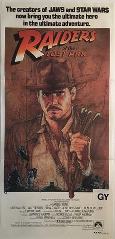 raiders of the lost ark 1981 indiana jones australian daybill poster, available for purchase from our website.