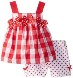 Kids Headquarters Girls 2-6X Checked Bow Top Short Set, Red/White, 3T Kids Headquarters,http://www.amazon.com/dp/B00HYU09W8/ref=cm_sw_r_pi_dp_Js-utb1VVXWF4Q6M