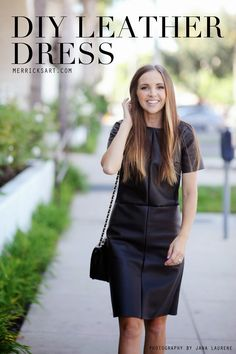 Merrick's Art // Style + Sewing for the Everyday Girl: DIY FRIDAY: LEATHER DRESS TUTORIAL