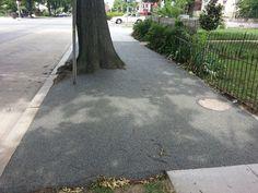 New sidewalk uses porous, flexible pavement - Greater Greater Washington