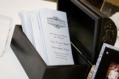 we love their custom monogram/name design on their wedding stationery suite