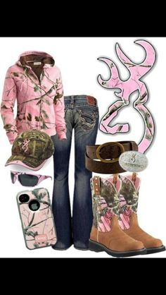 Southern style.. Redneck girl.... Camo most of my wardrobe !;)