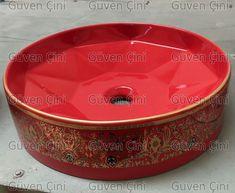 Güven Çini   Çini Desenli Porselen Lavobo 19