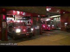 Engine 37 + Tiller ladder 40 + Tower ladder 23 FDNY - YouTube