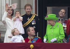 Pin for Later: Princess Charlotte Makes Her Buckingham Palace Balcony Debut During the Queen's Birthday Celebration