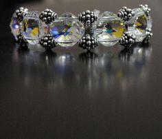 Stunning Swarovski and Sterling Silver Bracelet Handmade Jewellery, Sterling Silver Bracelets, Swarovski, Glitter, Jewelry, Jewellery Making, Handmade Jewelry, Handcrafted Jewelry, Jewelery