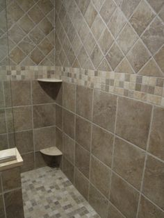 Bathroom Tile Design Ideas for Small Bathrooms Bathroom Tile Ideas for Bathroom Floor Tile Bathroom Tile Design Ideas for Small Bathrooms. Bathroom tile ideas for bathroom floor tile can help you k… Shower Tile Patterns, Bathroom Tile Designs, Bathroom Wall Decor, Basement Bathroom, Bathroom Ideas, Bathroom Remodeling, Shower Ideas, Bathroom Interior, Master Bath Shower