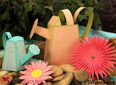 SDS Watering Wishes - Awesome 3d kit.  Great Spring Theme with 2 watering cans and 2 3d flowers.  Fun to bring in spring or just to share with friends.