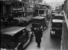 Berlin 1929 Gestauter Verkehr in der Potsdamerstrasse am Potsdamer Platz