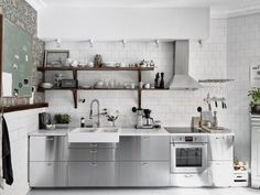 Kitchen of the Week: An Industrial Yet Romantic Swedish Kitchen - Remodelista