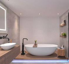 23 ideas for bathroom spa tiles layout Bathroom Sink Decor, New Bathroom Ideas, Modern Master Bathroom, Bathroom Spa, Bathroom Design Small, Bathroom Interior Design, Bathroom Inspiration, Beige Bathroom, Interior Exterior