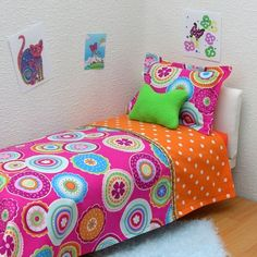 Doll Bedding PDF tutorial Fits American Girl by WendySaySew,