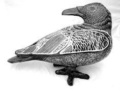 Storm Raven 6h porcelain by ChristensenPorcelain on Etsy