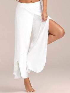 Women's Clothing Nice Women\s Elegant Striped Split High Waisted Belted Loose Wide Leg Pants Newest 2018 Hot Sale Fashion High Quality And Low Overhead