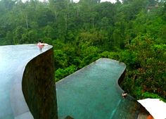 escapade: Hanging Infinity Pools, Bali, Indonesia. Of course, this is in Bali. Everything good is in Bali.