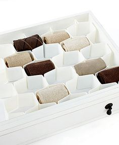 Get your stuff together. Easily snapping together, this 8-piece organization system features a honeycomb design that optimizes drawer space & makes it easy to find accessories, like socks, underwear &
