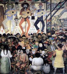 """Diego Rivera: """"""""Le jour des morts"""" 1923"""