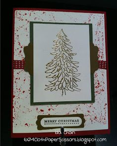 #Evergreen Christmas Card #StampinUp