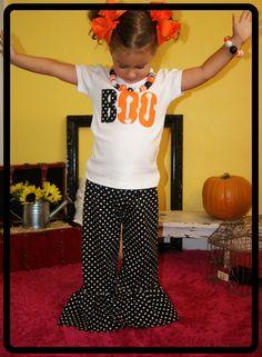 Girl Halloween Ruffle Pants Outfit