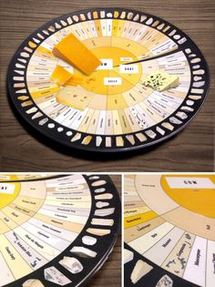 Pop Chart Lab --> Design + Data = Delight --> The Charted Cheese Wheel Cheese Platter