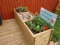 "Sensory Garden ("",)  Originally for little kiddos, but I like the style of this garden box!"