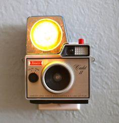 Nightlights Made From Vintage Cameras.