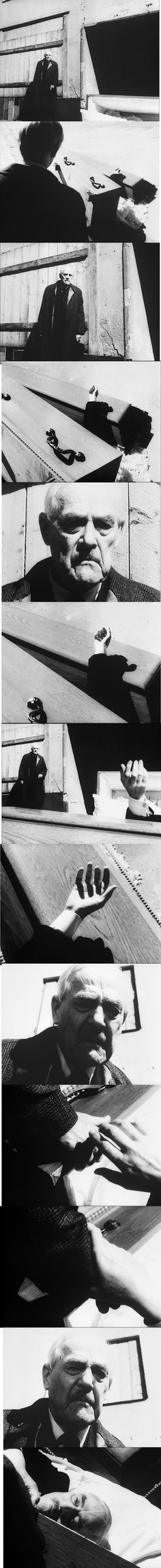 Isak Borg, played by Victor Sjostrom, confronting images of impending death in a dream sequence of Wild Strawberries 1957.