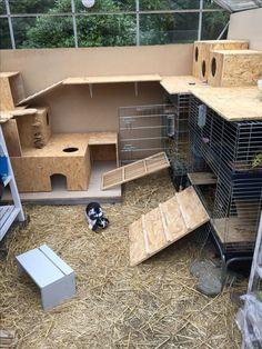 Slowly getting where its gonna end. Still building on the rabbits place. Det går langsomt fremad. Og jeg bygger stadig på kaninernes sted.