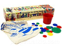 TIDDLYWINKS- I don't remember how often I played, but I had tiddlywinks hidden all over my bedroom for years.