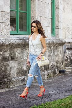 Girlfriend Jeans x Saint Laurent #kellyskloset #ysl #neon