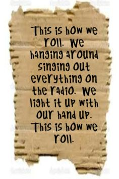 Florida Georgia Line feat Luke Bryan - This is How We Roll - song lyrics, song quotes, songs, music lyrics, music quotes, music