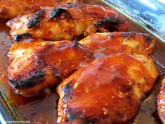 Rezepte mit Herz ♥: Honey BBQ Chicken - Gebackenes Honig Hähnchenbrustfilet