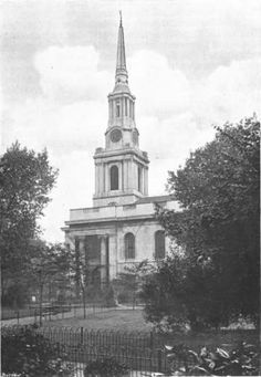 All Saints Church Poplar c 1920 by William Whiffin