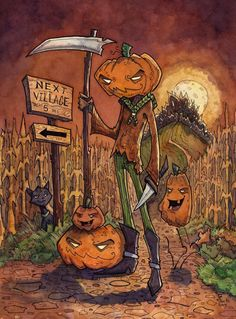 For Halloween Hope you all enjoyed it as I did. Other paintings from my Halloween series: Barnabas Pumpkin Scary Halloween Masks, Halloween Artwork, Halloween Series, Halloween Drawings, Halloween Clipart, Halloween Images, Halloween Season, Halloween Horror, Halloween Town