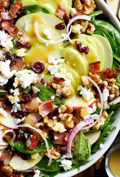 Honey Dijon Apple Bacon Cranberry Salad