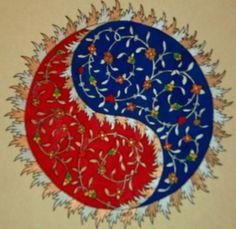 "Persian Illuminations (Tazhib) artwork by Mojgan Lisar: Shamse ""sun """