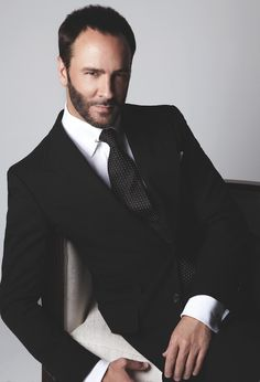 51 year-old (!) Tom Ford reversed the fortunes of the ailing Gucci fashion house before going on to establish his own label and then get an Oscar nomination for directing A Single Man. And just look at those eyes! Sharp Dressed Man, Well Dressed Men, Look Formal, Stylish Men, Mens Suits, Dapper, Beautiful Men, Sexy Men, Hot Men