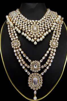 Look magnificent with New White Color Necklace Set Shop now…