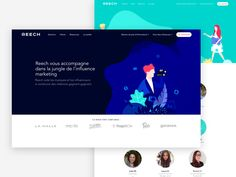 We've made these landing pages & illustrations for Reech to introduce their different activities and features. There were more than 20 Want more? 1. Check this hot work made by @Luc Chaiss...