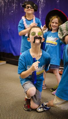 The kids at our test church LOVED these hand-held mustaches -- patterns for making the mustaches will be on your Director CD-ROM!