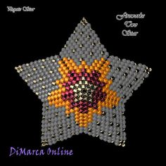 TUTORIAL FIREWORKS TWO 3D PEYOTE STAR + Basic Instructions Little 3D Peyote Star This beading pattern provides a colour diagram and text to create the Fireworks Two 3D Peyote Star. Included are also the step by step instructions with clear 3D images of how to create a 3D Star in