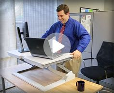 Love your workspace!  Check out the Ergotron line of height adjustable desks on Snapsupplies.com