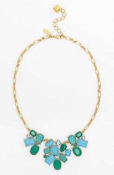 kate spade new york 'crystal fiesta' stone bib necklace available at #Nordstrom