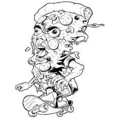 Pizza guy riding by Nico Bassez aka Niki