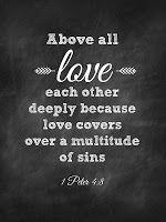 1 Peter 4:8 Sweet Blessings: Chalk Verses~ Set #1