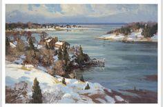 Paul Strisik (1918-1998) Winter's End, Cape Ann
