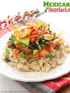 Mexican Haystacks - a twist on the classic haystacks. the-girl-who-ate-everything.com