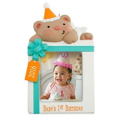 First Birthday Photo Holder Ornament